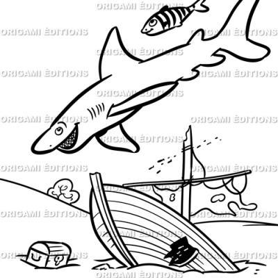 Dessin aquarium requin
