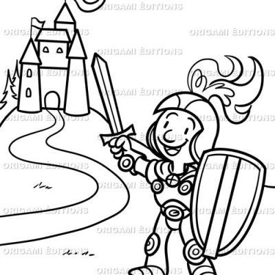 Dessin chateau chevalier