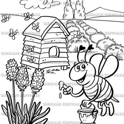 Dessin jardin abeille