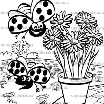Dessin jardin coccinelle