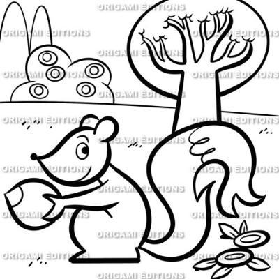 Dessin jardin ecureuil