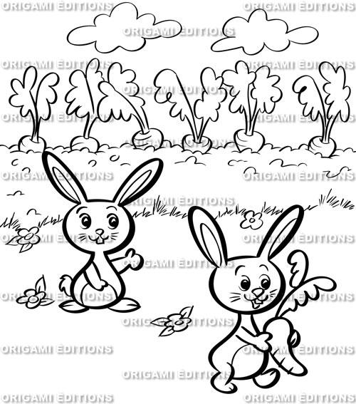 dessin jardin lapin - Jardin Dessin