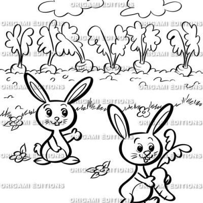 Dessin jardin lapin