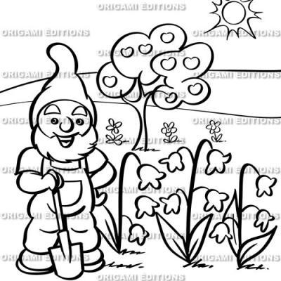 Dessin jardin nain de jardin
