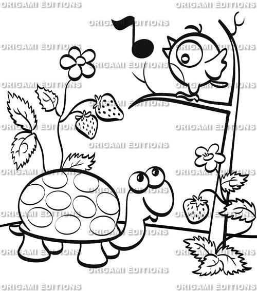 dessin jardin tortue - Jardin Dessin