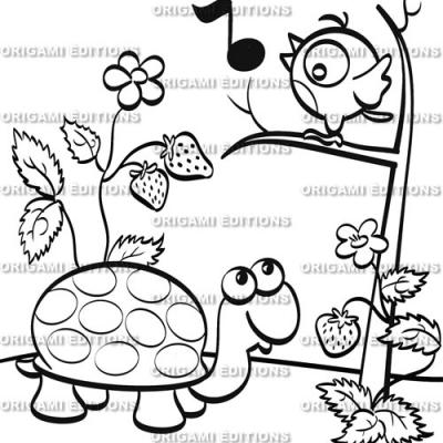 Dessin jardin tortue