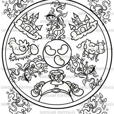 Dessin mandala jack et le haricot magique