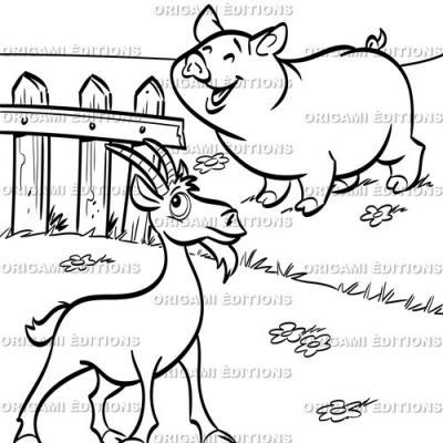 Dessin parc animalier ferme