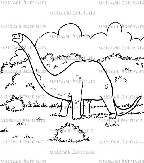 Dessin préhistoire dinosaure brontosaure