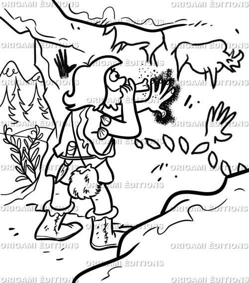 Dessin préhistoire caverne