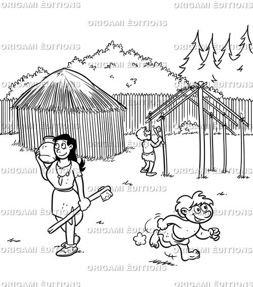 Dessin préhistoire femme préhistorique