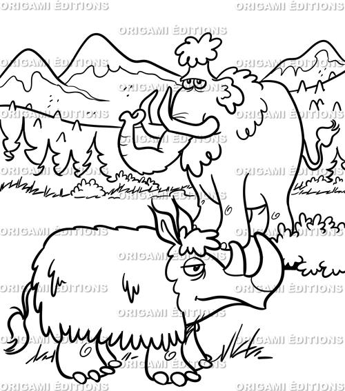 Dessin préhistoire mammouth
