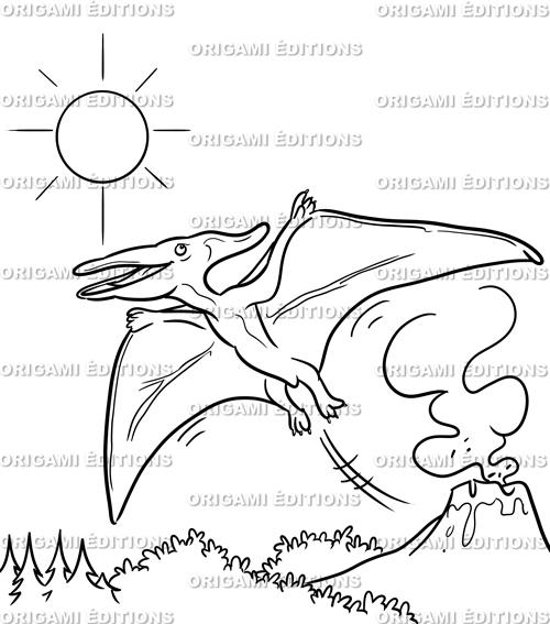 Dessin préhistoire ptérodactyle
