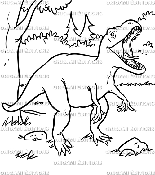 Dessin préhistoire dinosaure tyrannosaure