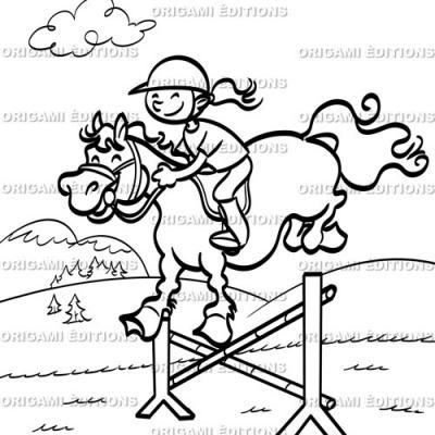 Dessin vacance équitation