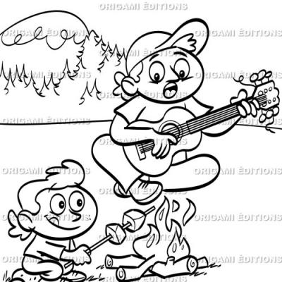 Dessin vacance guitare
