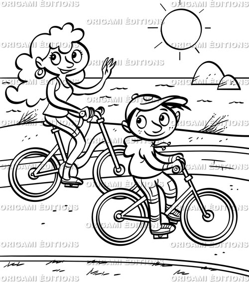Papeterie personnalis e coloriages mer partir de 2 50 - Dessin vacances mer ...
