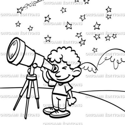 Dessin vacance petit astronaute