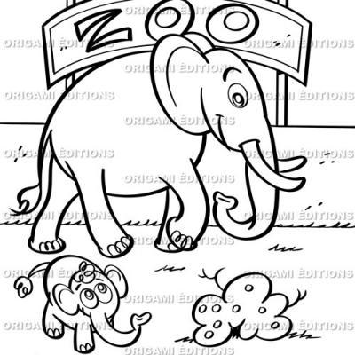 Dessin zoo éléphant