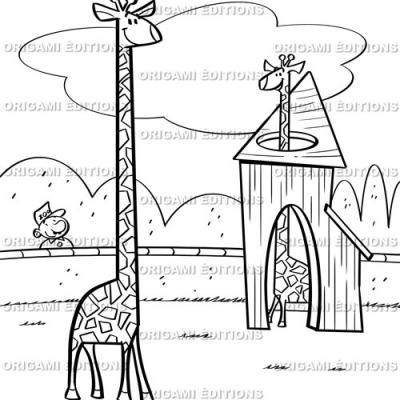 Dessin zoo girafe