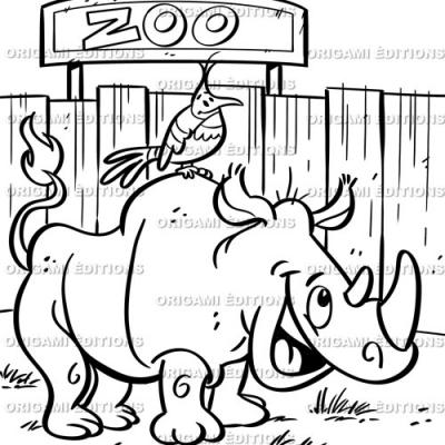 Dessin zoo rhinoceros